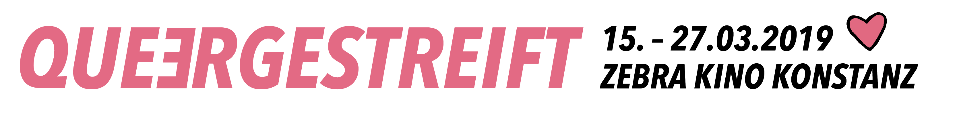 Queergestreift Filmfestival vom 15.  bis 27. März 2019